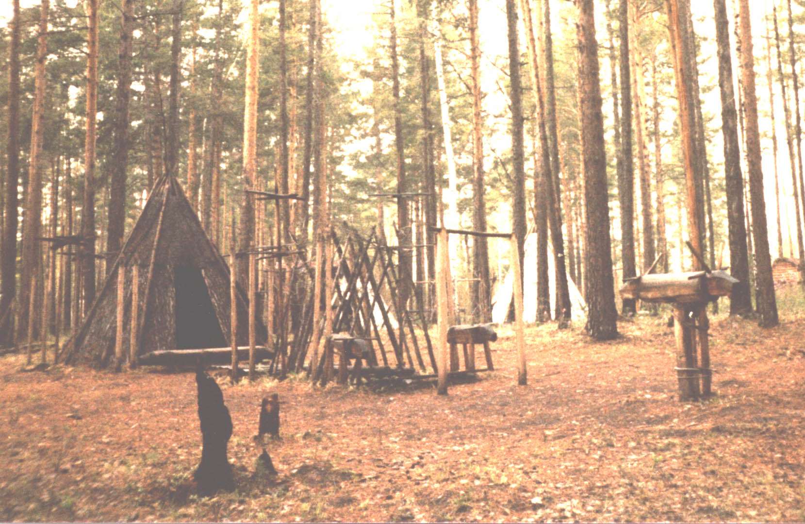 Evenk shaman tent copyright Heather Hobden, photo by Heather Hobden